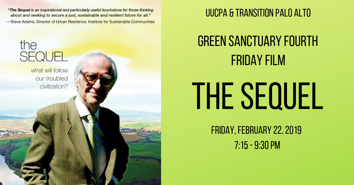 Green Sanctuary Fourth Friday Film - The Sequel