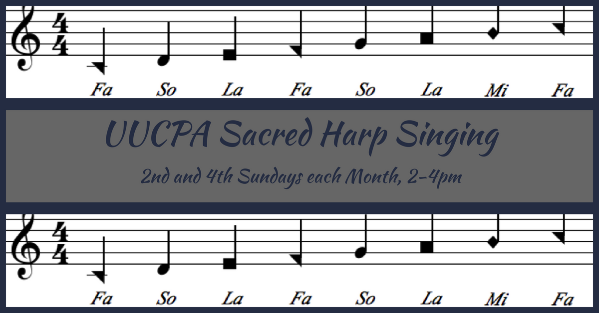 Sacred Harp Singing - Canceled