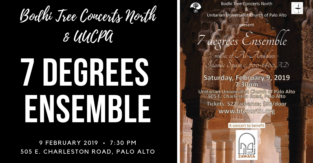 Bodhi Tree Concerts North:  7 Degrees – Music of Al-Andalus