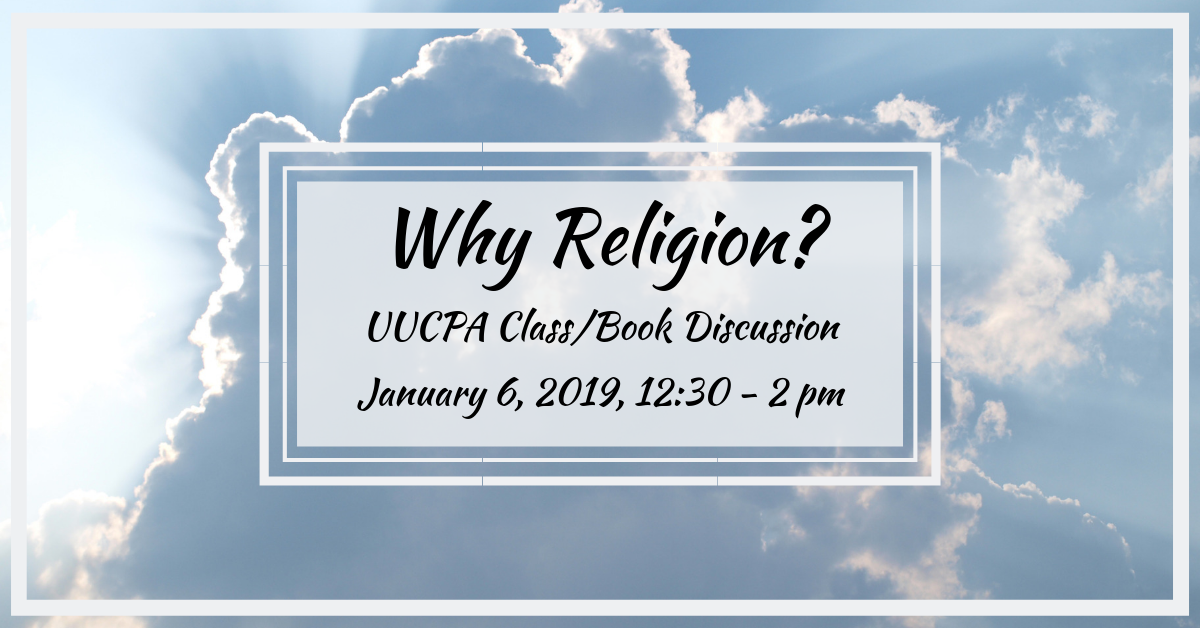 """Why Religion?"" book discussion"