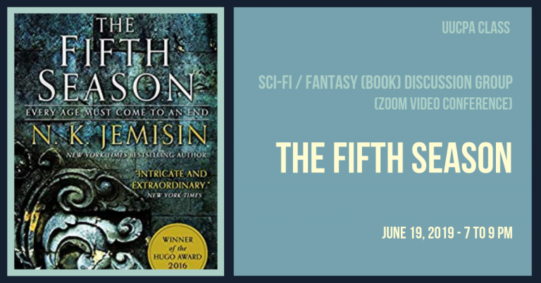 June 19 Next Sci-Fi Discussion Group Meeting