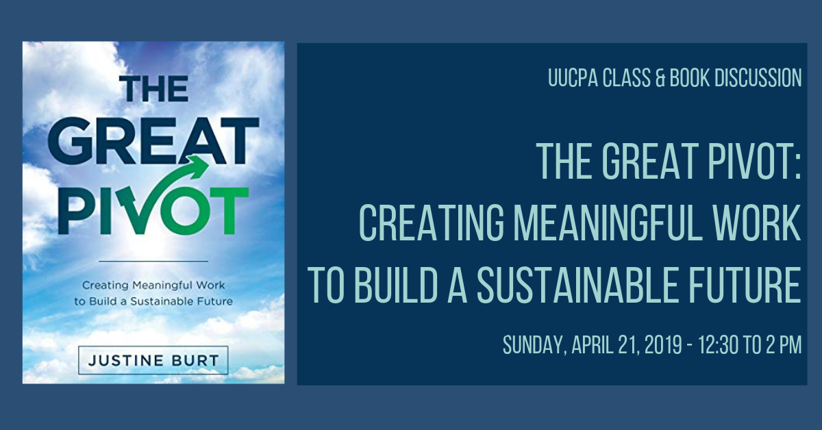 The Great Pivot: Creating Meaningful Work to Build a Sustainable Future - Canceled
