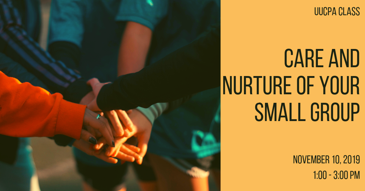 Care and Nurture of Your Small Group