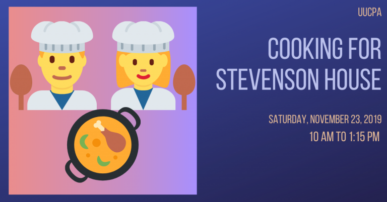 Help Cook for Stevenson House on Nov. 23