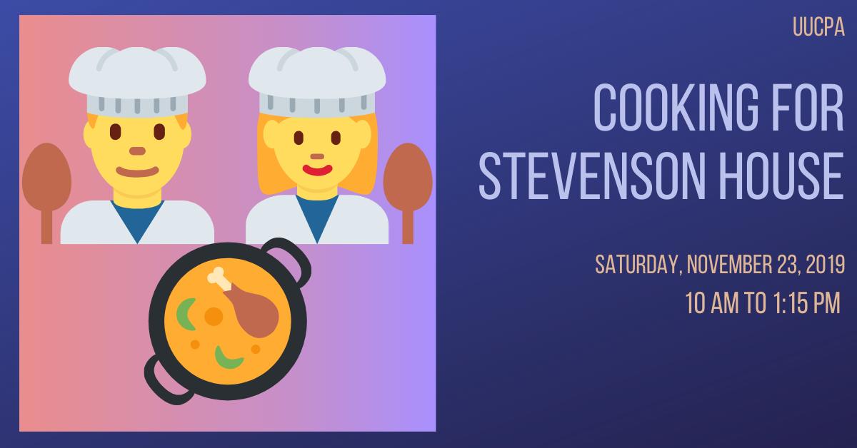 Cooking for Stevenson House
