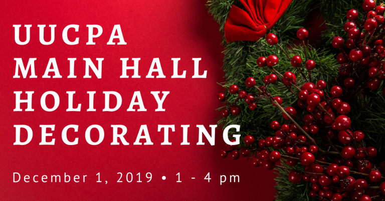 Join us to Decorate the Main Hall on December 1st
