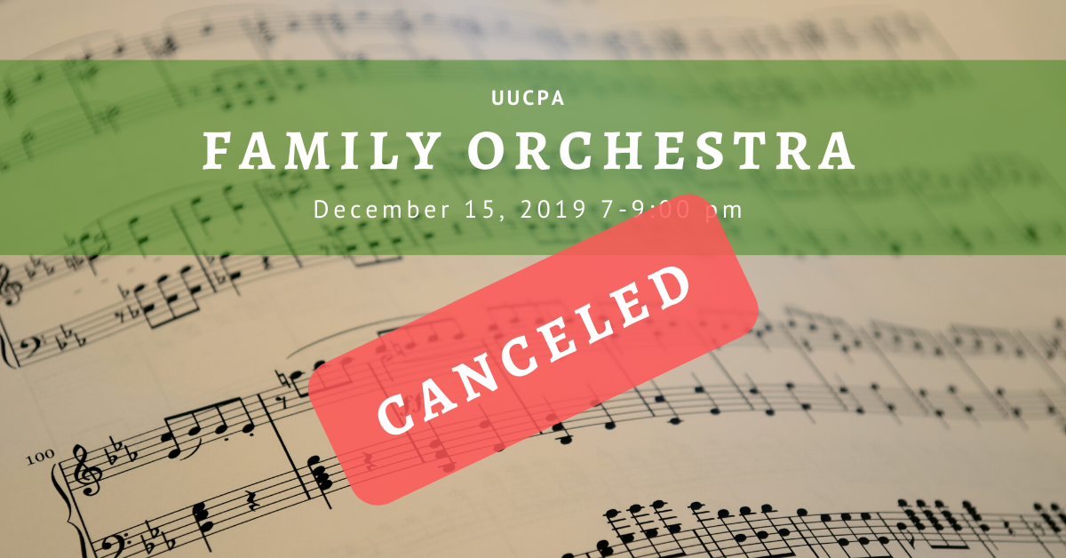 UUCPA Holiday Family Orchestra - Canceled