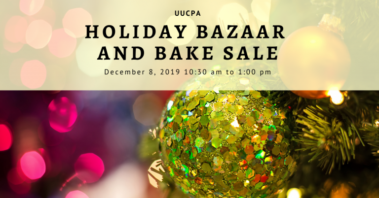 Holiday Bazaar and Bake Sale - Donations Needed