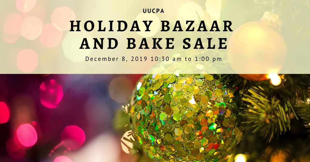 Holiday Bazaar & Bake Sale