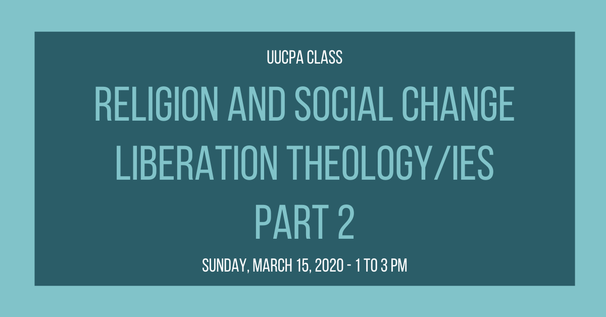 Religion and Social Change: Liberation Theologies, Part 2