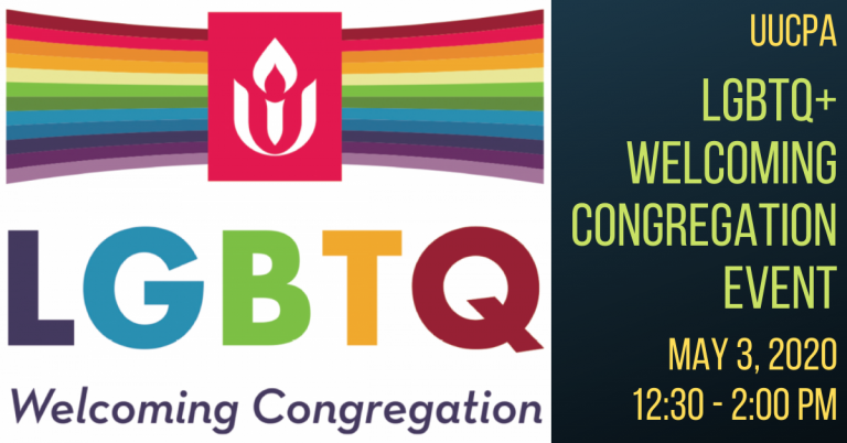 Save the date: Welcoming Congregation event on May 3, 2020!