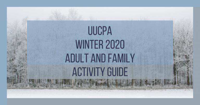 Winter 2020 Adult Religious Education Brochure
