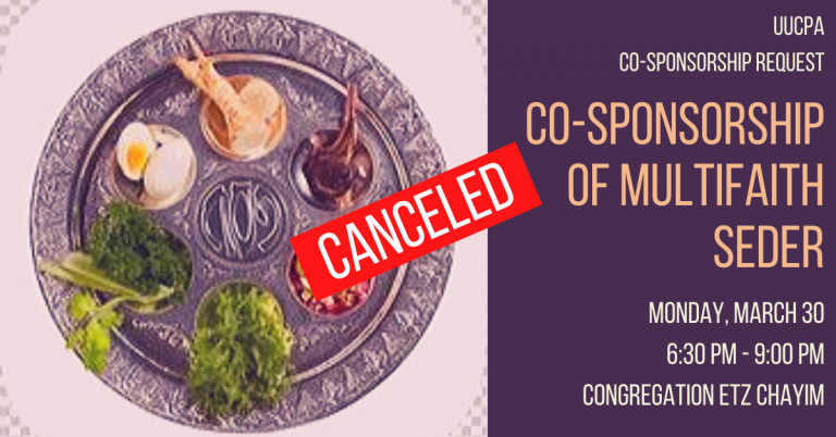 Board Approves Sponsorship of 2020 Multifaith Seder (now canceled)