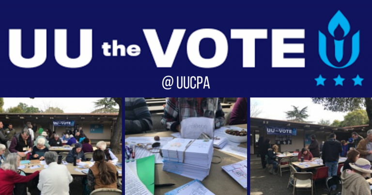 Successful UU the Vote Effort on Sunday on March 1, 2020!