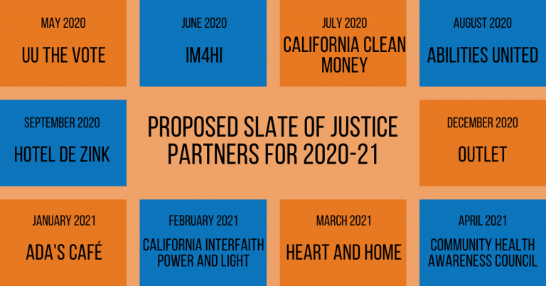 Proposed Slate of Justice Partners for 2020-21 (revised)