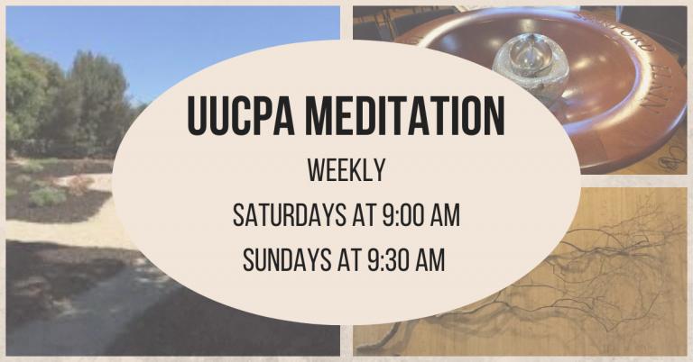 Sunday Morning Meditation moves to 9:30 am