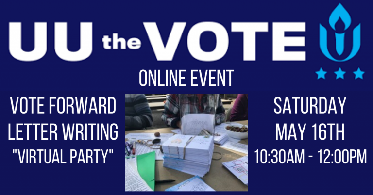 Zoom-Chat With UUCPA Friends While You GET OUT THE VOTE on May 16