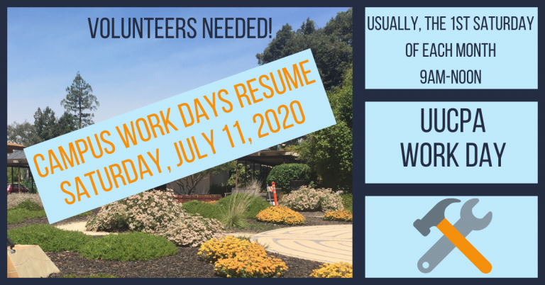 Campus Workdays are Back - First Saturdays @ 9 am!