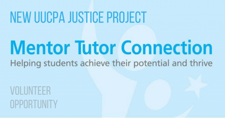 Announcing a New Justice Project - Mentor Tutor Connection