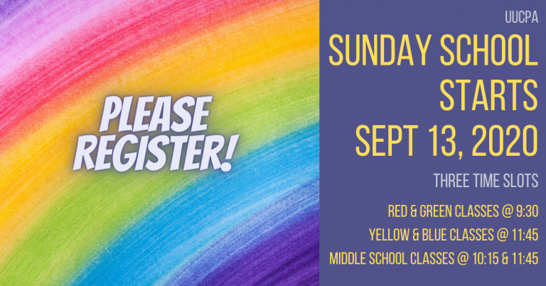 Registration required for all children and youth classes