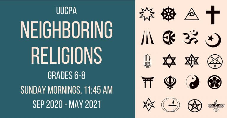Online Neighboring Religions class for gr. 6-8
