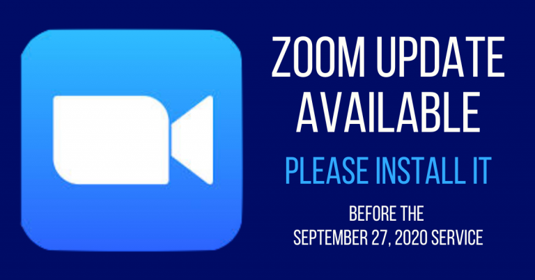 Update your Zoom client