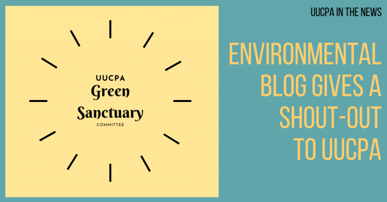 Environmental blog gives a shout-out to UUCPA