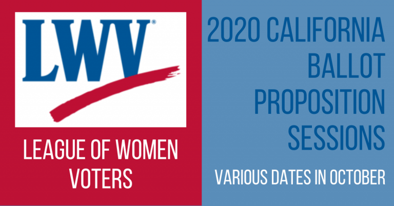 League of Women Voters 2020 California Ballot Proposition Sessions