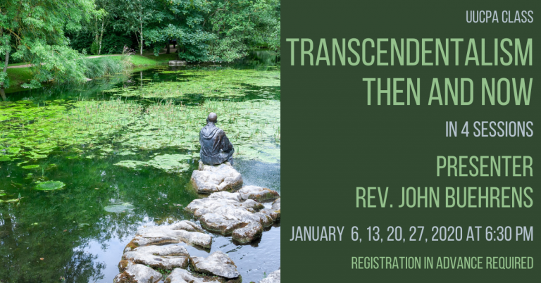 New Class: Transcendentalism Then and Now in Jan. 2021