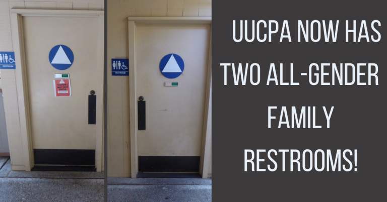 UUCPA now has two all-gender family restrooms!