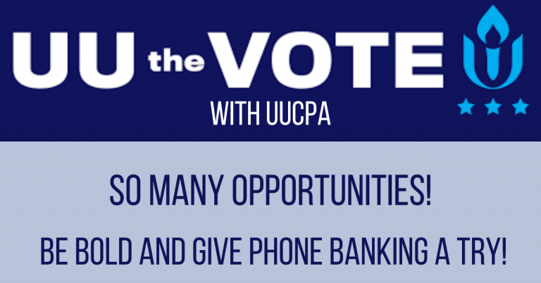 Let's UU the Vote in the Final Weeks!