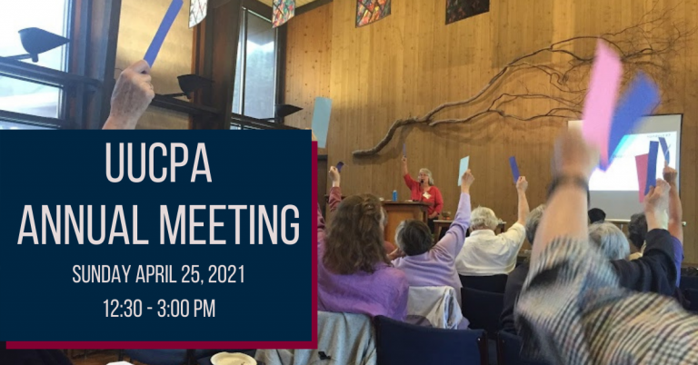 UUCPA Annual Meeting - Sunday, April 25th