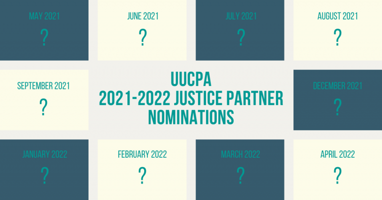Nominations Open for 2021-2022 Justice Partners (due Mar 6)