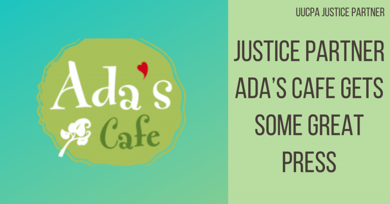 Justice Partner Ada's Cafe gets some great press!