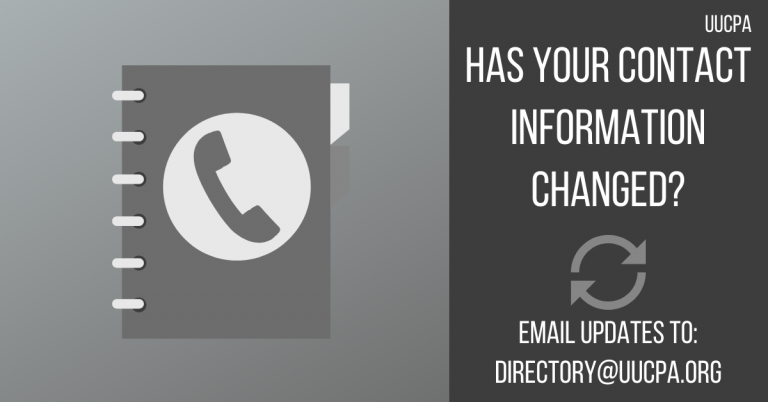 Change in contact information?