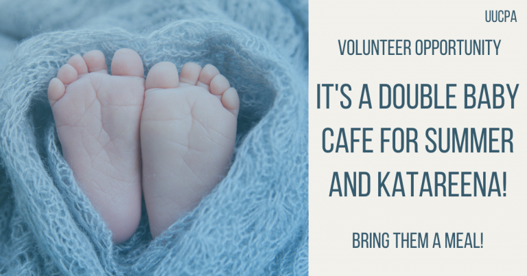 Meals Needed: A Double Baby Cafe for Summer and Katareena!