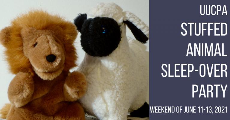 UUCPA Stuffed Animal Sleepover, June 11-13