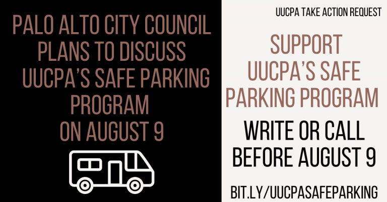 Request to the Congregation from UUCPA Safe Parking Committee