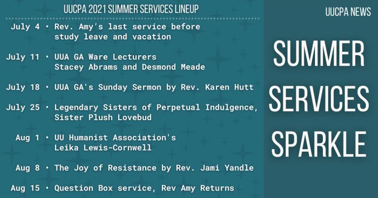 Summer services sparkle