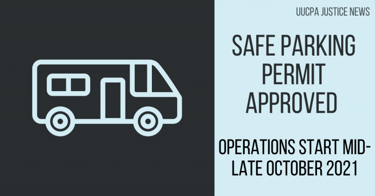 Safe Parking Permit Approved - Operations Start Mid-Late October
