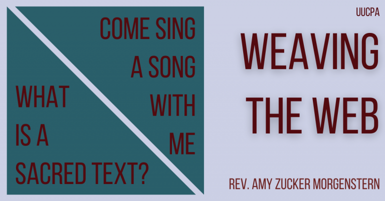 Come sing a song with me / What's a sacred text?